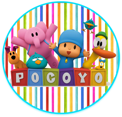 alfajores3 candy bar pocoyo kit imprimible