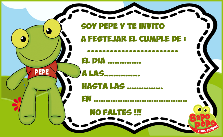 Kit imprimible candy bar de Sapo Pepe para cumpleaños | Candy Bar Gratis