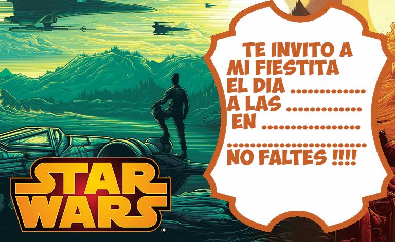 Invitaciones De Cumpleaños De Star Wars Para Imprimir Gratis ...