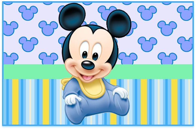 sugusconfitados candy bar Mickey bebe kit imprimible