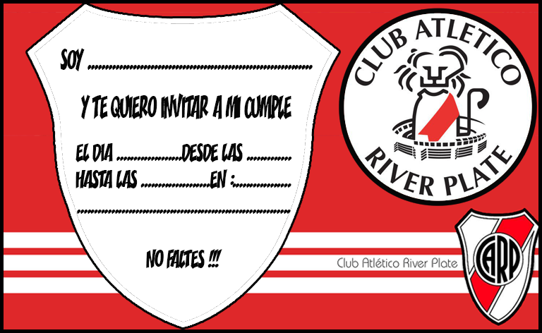 Kit imprimible candy bar River Plate para cumpleaños | Candy Bar Gratis