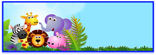 miniroklets i candy bar animalitos de la selva kit imprimible