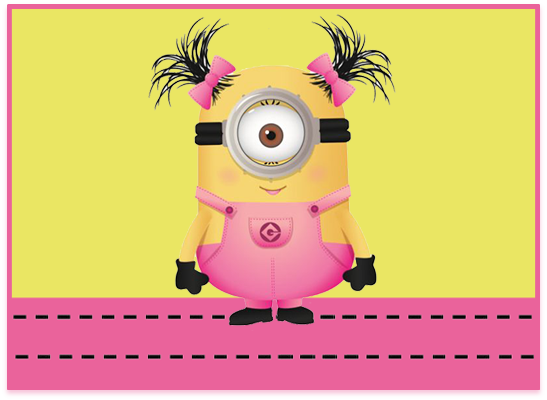 opera candy bar MINIONS NENA kit imprimible