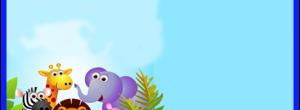 Kit imprimible candy bar Animalitos de la Selva para cumpleaños