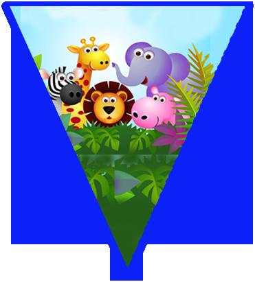 paraguita i candy bar animalitos de la selva kit imprimible