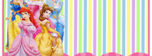 Kit imprimible candy bar Princesas Disney para cumpleaños
