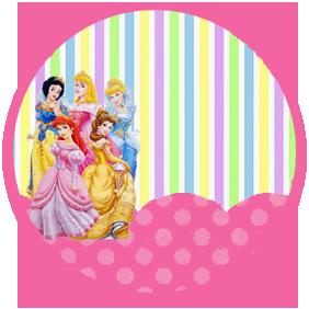 bonobon candy bar princesas disney kit imprimible