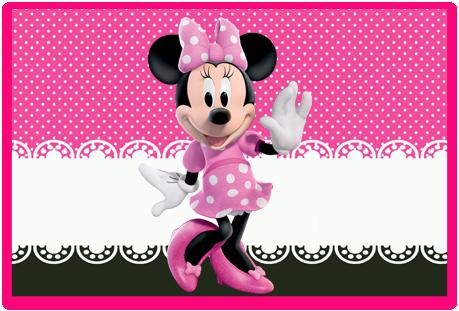 Tita candy bar minnie rosa kit imprimible
