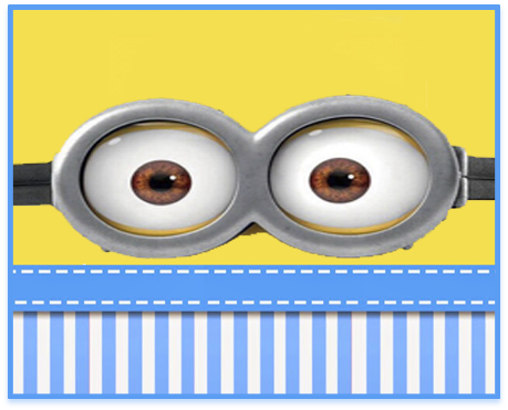 alfajores candy bar minions ojitos kit imprimible