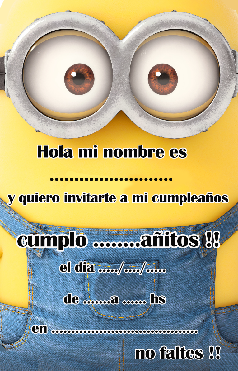 invitacion-tarjetita- candy bar minions ojitos kit imprimible