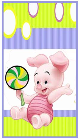mini baggio candy bar piglet kit imprimible