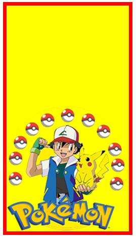 mini baggio candy bar pokemon kit imprimible