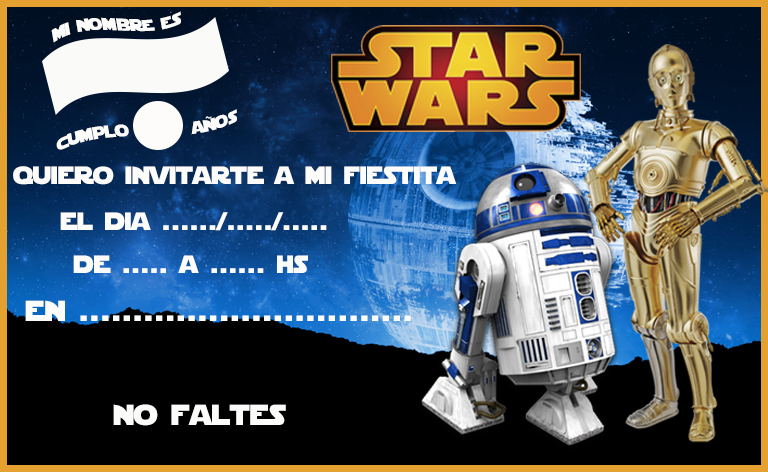 invitacion-tarjetita-candy-bar star wars 2 kit-imprimible