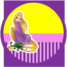 bonobon-candy bar rapunzel kit imprimible