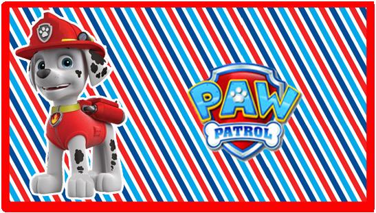 chocolate2 candy bar marshal paw patrol kit imprimible