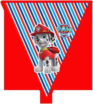 paraguita candy bar marshal paw patrol kit imprimible