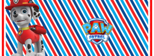 Kit imprimible candy bar Marshall Paw Patrol