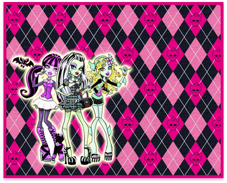 alfajores -candy bar rmonster high kit imprimible