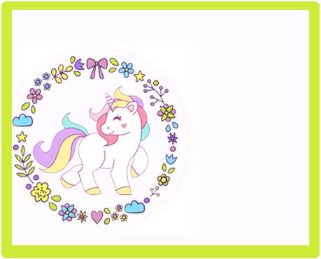 alfajores -candy bar unicornio kit imprimible