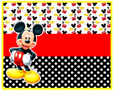 alfajores -candy bar-mickey mouse kit imprimible