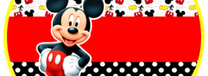 Kit imprimible candy bar Mickey 2 para eventos.