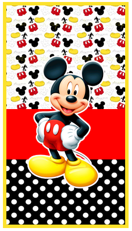 baggio mini -candy bar-mickey mouse kit imprimible
