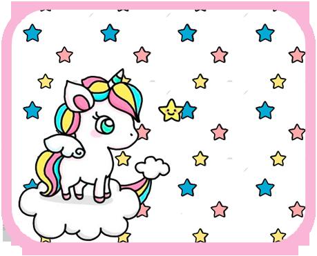 alfajores2 candy bar unicornio en nube kit imprimible