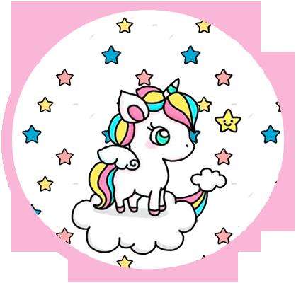 alfajores3 candy bar unicornio en nube kit imprimible