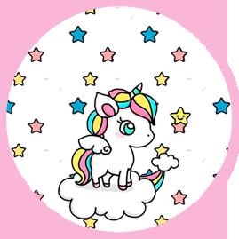 bonobon candy bar unicornio en nube kit imprimible
