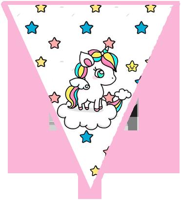 paraguita candy bar unicornio en nube kit imprimible