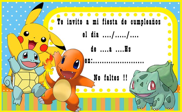invitacion-tarjetita-candy-bar pokemon kit-imprimible