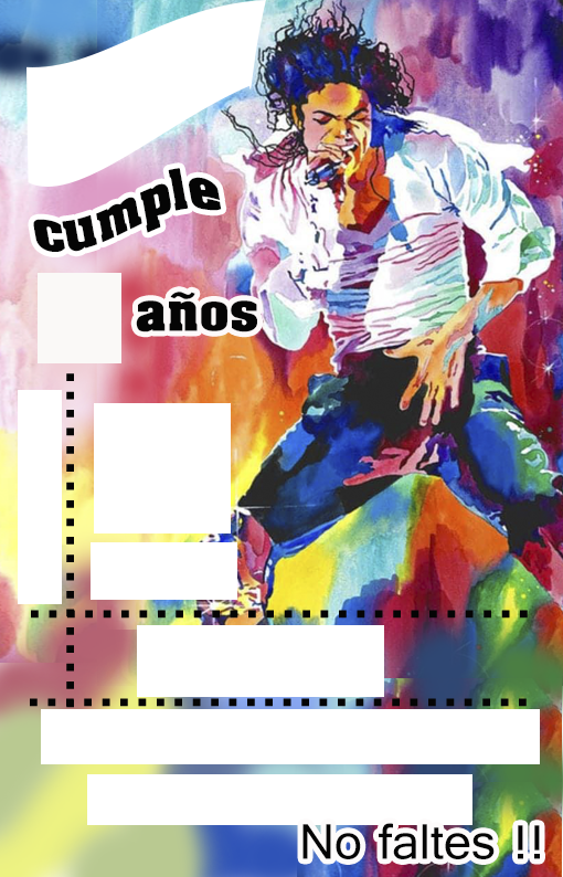 INVITACION- candy-bar michael jackson kit-imprimible