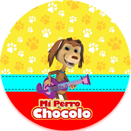 bonobon-candy bar mi perro chocolo kit imprimible