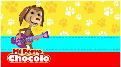 chocolatearcor-candy bar mi perro chocolo kit imprimible