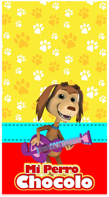 clubsocial-candy bar mi perro chocolo kit imprimible