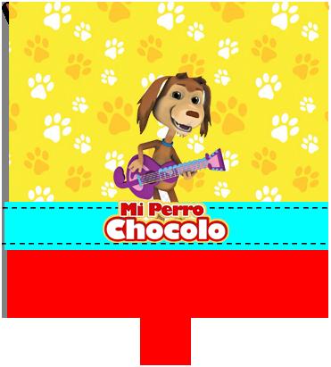 paraguita-candy bar mi perro chocolo kit imprimible