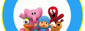 Kit imprimible candy bar Pocoyo para eventos