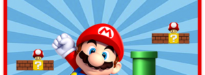 Kit imprimible candy bar Mario Bros para eventos