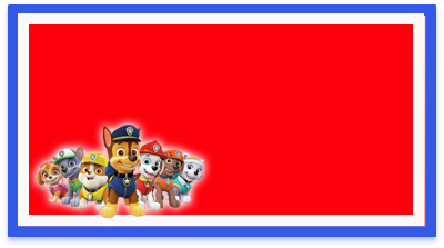 chocolatearcor-candy bar paw patrol kit imprimible