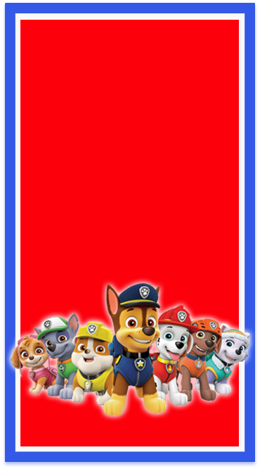 clubsocial-candy bar paw patrol kit imprimible