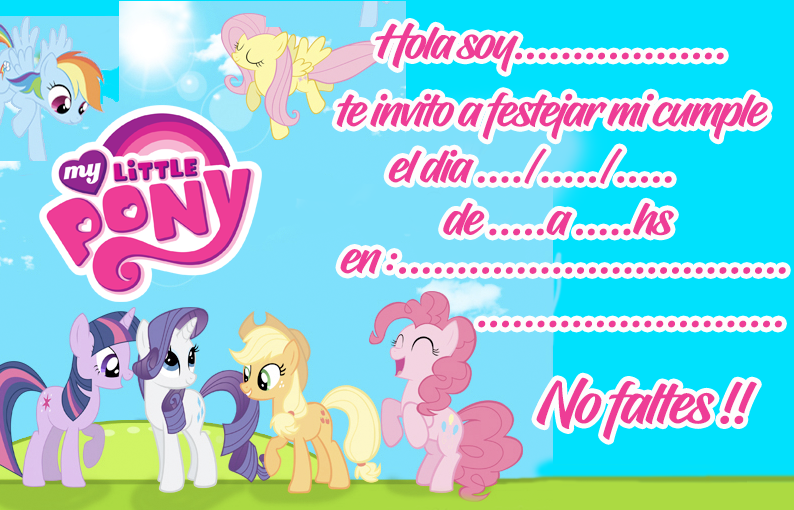 invitacion-tarjetita- candy bar little pony kit imprimible