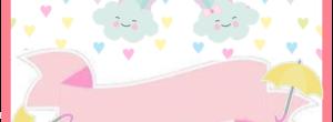 Kit imprimible candy bar Lluvia de Amor para eventos