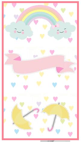 baggio mini-candy bar lluvia de amor kit imprimible