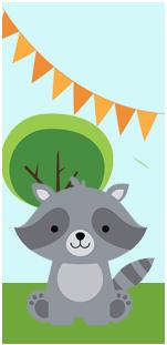 picodulce-candy bar animalitos de la selva kit imprimible