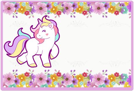 Tita-candy bar unicornio y flores kit imprimible