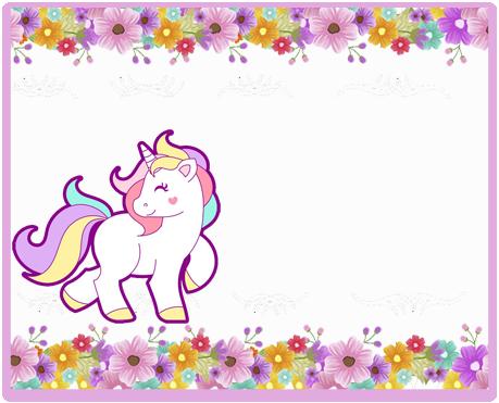 alfajores i-candy bar unicornio y flores kit imprimible