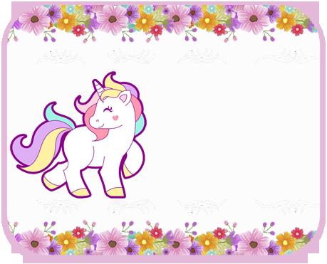 alfajores2i-candy bar unicornio y flores kit imprimible