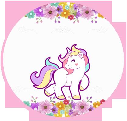 alfajores3 -candy bar unicornio y flores kit imprimible