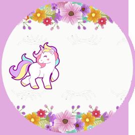 bonoboni-candy bar unicornio y flores kit imprimible