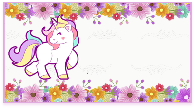 chocolatearcor -candy bar unicornio y flores kit imprimible